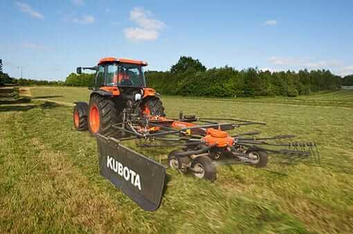 Kubota Ra1042t Compact Tractor Single Rotary Rake