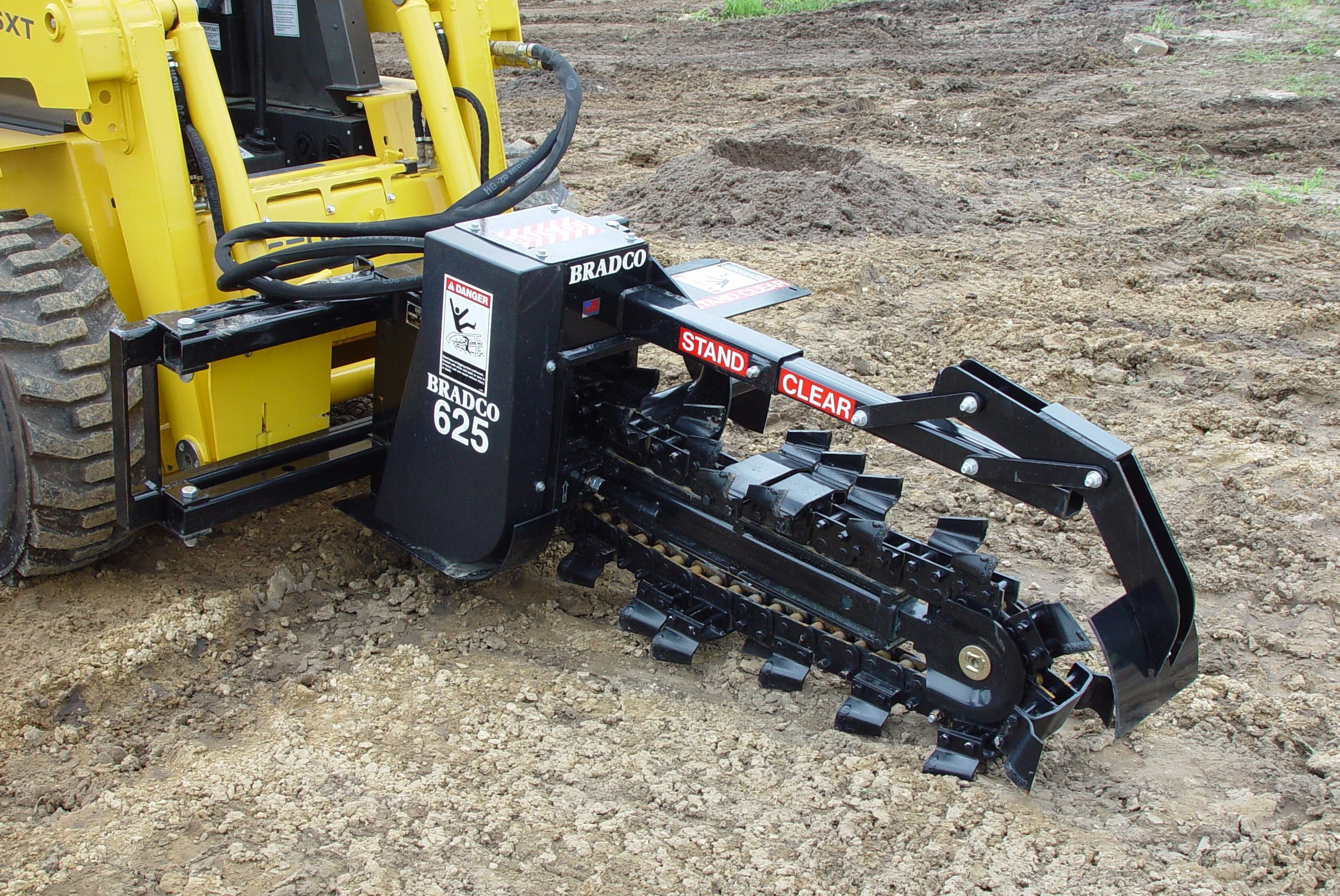 Bradco Model 625 Skid Steer Trencher Attachment