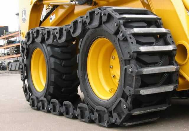 Grouser Skid Steer Loader Over The Tire Steel Bar Tracks 12x16 5