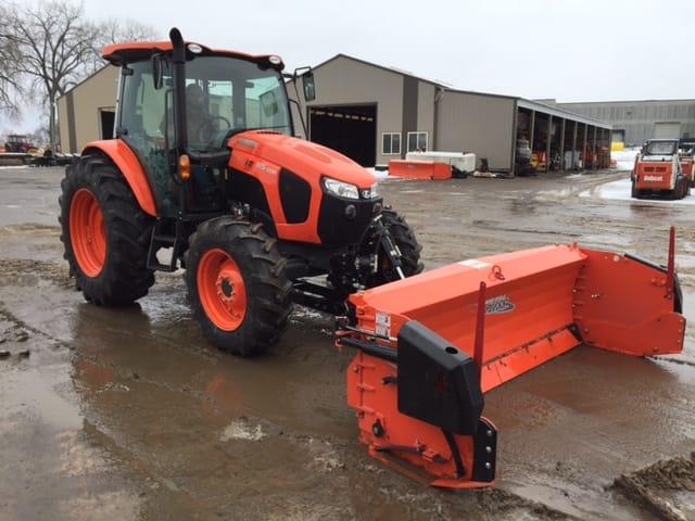 Tractor Snow Wing Blades : Kubota m tractor w metal pless agrimaxx blade lano