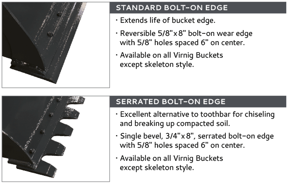 Virnig BEV Bolt-on Cutting Edges