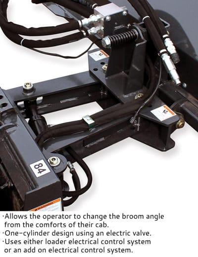 Virnig Vab96 Skid Steer Angle Broom Attachment Man Angle