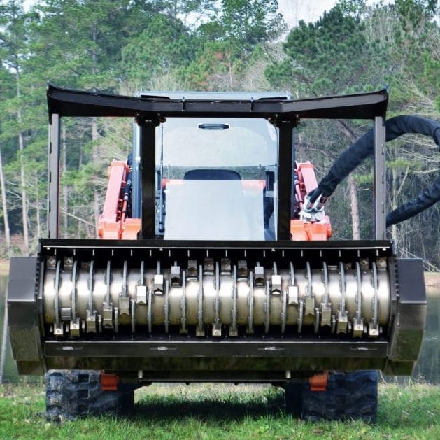 """Diamond 25-1735 72"""" Steel Drum Mulcher Skid Steer Attachment 1735 - Lano  Equipment, Inc."""