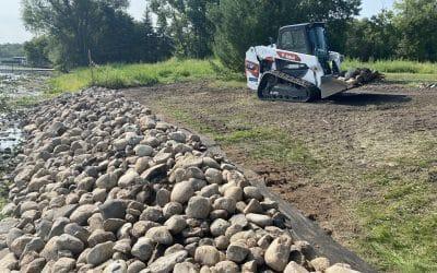 Ryan rocks rental – Bobcat T62 helps tackle tricky lakefront shoreline restoration