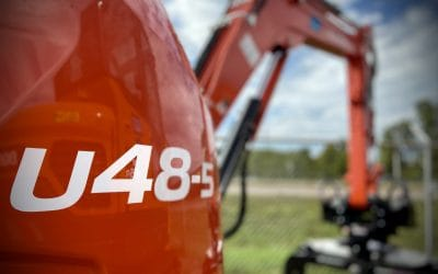 New Kubota U48-5 compact excavator – good old fashioned power, packed with modern features
