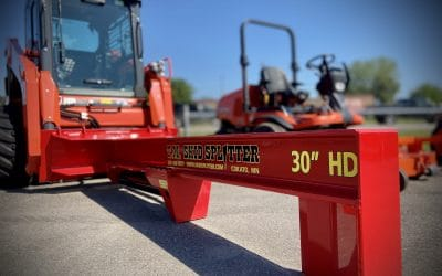 New TM heavy duty Skid Steer Log Splitter, just the item you need for a busy fall